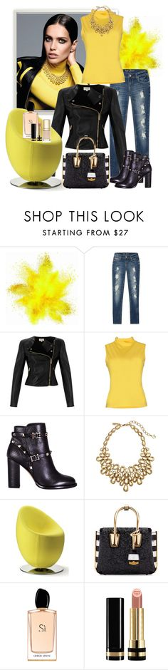Yello love by milkalilien on Polyvore featuring TAVIANI, Temperley London, Valentino, MCM, Oscar de la Renta, Gucci, Giorgio Armani, Dolce&Gabbana and plus size clothing