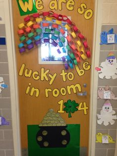 At. Party's day door decoration.