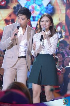 """This is Daniel Padilla and Kathryn Bernardo singing the theme song of the 2015 ABS-CBN Christmas station ID, """"Thank You for the Love!"""" during the ASAP Christmas Countdown at ABS-CBN Studio 10 last November Inigo Pascual, Daniel Johns, Enrique Gil, Daniel Padilla, Liza Soberano, John Ford, Kathryn Bernardo, Jadine, Child Actresses"""