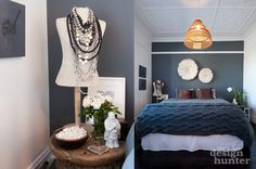 Indigo hues in the bedroom Kingsford House - The Design Hunter