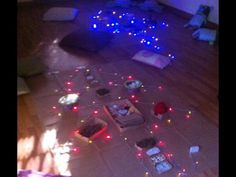 """Christmas Tree transient art provocation - lit & ready to decorate... image shared by Asilo Nido BIANCONIGLIO, Infernetto ("""",)"""