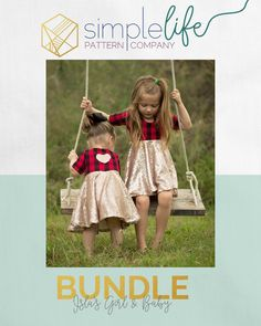 BUNDLE: Isla's: Girls & Baby | Download the Pdf pattern to make unique, modern and beautiful clothes | The Simple Life Pattern Company