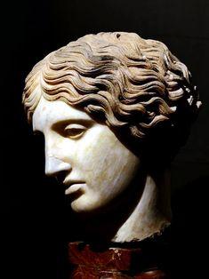 The Ancient World | hellas-inhabitants:   Head of an Amazon. Roman...