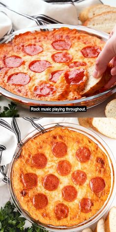 A cheesy pepperoni pizza dip with sour cream featuring spicy pepperonis, three kinds of cheese, pizza sauce, and Italian spices! #berlyskitchen Appetizer Dips, Yummy Appetizers, Appetizer Recipes, Snack Recipes, Cooking Recipes, Pizza Dip Appetizers, Italian Appetizers Easy, Pepperoni Pizza Dip, Pizza Dip Recipes