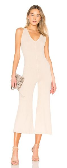 "Bimisi Rib Jumpsuit by AYNI. ""100% cotton. Hand wash cold. Rib knit fabric. Stretch fit. Body measures approx 28"""" in length21"""" at the knee breaks to 27"""" at the leg opening. AYNR-WC1. BIMISI. Created out of a common love for high quality products, nature's finest ... #ayni #dresses"