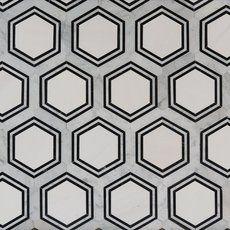 Carrara Thassos Hexagon Waterjet Marble Mosaic - 14 x 16 - 100246065 Marble Mosaic, Mosaic Tiles, Mosaic Floors, Backsplash Tile, Bathroom Flooring, Kitchen Flooring, Entryway Tile Floor, Bathroom Marble, Master Bathroom