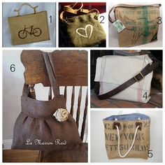 tons of burlap crafts - Polka Pics