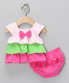 absorba Ruffle Dress & Diaper Cover on #zulily!