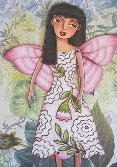 Butterfly fairy printable paper-doll in full by birdandflower