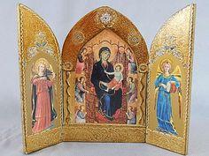 Gorgeous Vintage Italian Florentine Triptych by SlyfieldandSime