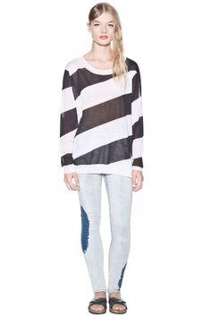 Stripe Diagonal Knit