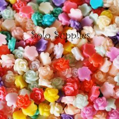 24 Teeny Tiny Flower Cabochons 6.5mm. Starting at $3 on Tophatter.com!