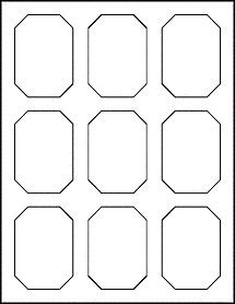 """Decorative Emerald Shape Labels - 2.125"""" x 3"""" just print, peel and stick.  Awesome product labels."""
