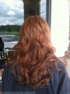 By sarah martin. From virgin hair to beautiful soft red base and peach toned highlights. #victoriassecretcurls  @Bloom.com