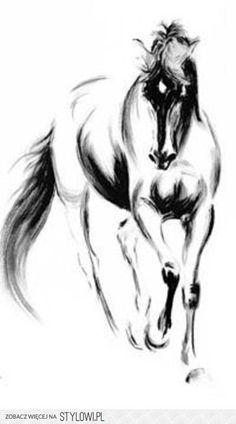 horse black and white - Схемы вышивки - Myoung - Авторы - Портал «Вышивка крестом»