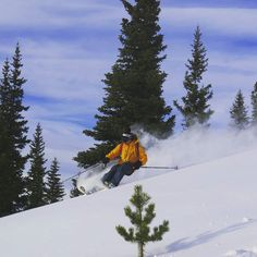Lunchtime backcountry ski this afternoon on Uneva Peak. Here Gary Fondl shows off his new @flylowgear through the cold smoke!  #14erskiers #skicolorado #iskicolorado #bcskicolorado @skilogik #hshive #powder #ski #skiing #yayforskiing #instalike #imskiing