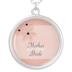 Mother Of The Bride Salmon Flowers Necklace