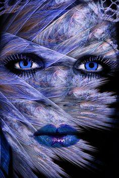 Fractal Woman Face