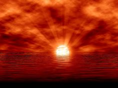 západ slunce obrázky, tapety slunce, moře pozadí
