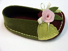Wool Felt Shoes Sewing Pattern Baby Ballerina by LenasShoePatterns, $4.50