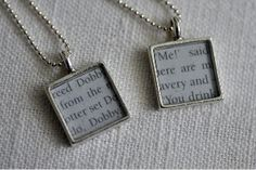 Book lovers beware! Prepare to be bewitched by these adorable Harry Potter Pendants. Inspired by the beloved book series, these pretty DIY pendants are both cute and chic. Perfect to give as gifts, these homemade pendants use quotes from the popular series as the focal point for stylish pendant piece.
