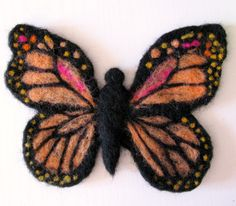 Monarch Butterfly needle felted ornament