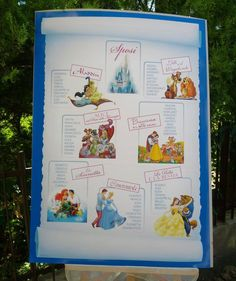 Tableau de Mariage a tema favole disney.