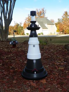 Tybee Island  Solar Lighthouse replica made with clay pots