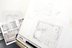 Student's plan and concept board in our Introduction to Interior Design class. Photograph: Spine Photographic.