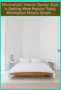 Stick to a basic Palette - Minimalist bedroom with neutral color palette. You want to keep color palette to a couple of muted shades and also touches ... Modern Minimalist Bedroom, Minimalist Interior, Neutral Colour Palette, Fashion Room, Wall Colors, Bed Frame, Bed Sheets, Bedroom Decor, Shades