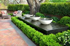 Photos from landscape design and garden design projects by Ian Barker Gardens. Outdoor Water Features, Water Features In The Garden, Garden Features, Modern Water Feature, Japanese Water Feature, Back Gardens, Small Gardens, Outdoor Gardens, Garden Pool