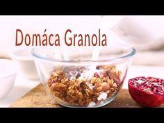 Rýchla domáca Granola - Videorecept - Lenivá Kuchárka Granola, Cereal, Breakfast, Blog, Fitness, Morning Coffee, Blogging, Muesli, Breakfast Cereal