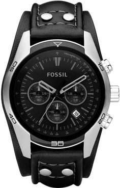 Fossil CASUAL BLACK LEATHER MENS Watch CH2586 BY Fossil