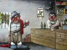 Florencio Molina Campos (1891 –1959) dibujante, pintor e ilustrador argentino.- Folk, Cartoon, Painting, Google, Fitness, Spanish, Drawings, Country Man, Popular