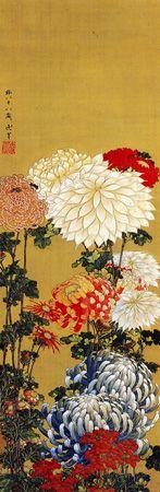 菊- Chrysanthemum - Hokusai. I love his fine black outlines and delicate inky colouring. Japanese Prints, Japanese Design, Chinese Painting, Chinese Art, Art Nouveau Pintura, Illustrations, Illustration Art, Monte Fuji, Japan Painting