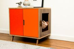 $549...one day I will build one :)  Standard Cabinet /// Mid Century Modern Pet Furniture // Dog & Cat House // Side Table