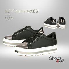Sneakers με μεταλλικές λεπτομέρειες http://www.shooz4all.com/el/gynaikeia-papoutsia/sneakers/sneakers-me-metallikes-leptomereies-bok-13-detail #shooz4all #sneakers #new