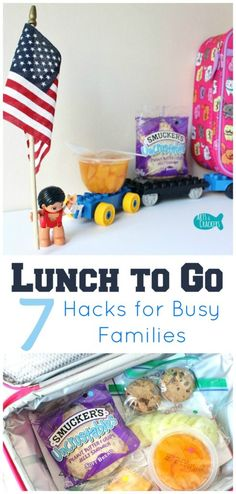 These Lunch Hacks to Go will help busy families to be unstoppable in their everyday routines. Learn ways to save time making lunch, don't forget to pack certain foods, and grab a free printable! Lunch | Back to School | Travel with Kids | Parenting | Hacks | To-Go | Quick and Easy | Lunch Ideas | School Lunch | Free Printable | On-the-Go | Time-Saving | Tricks and Tips | Food | Kids @Uncrustables #Unstoppable [ad]
