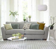 The Sophia 3 Seater Sofa in Sky. housebeautiful.co.uk