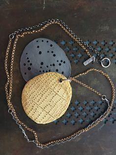 Celie Fago - Reversible Pierced Gold Pendant
