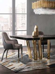 What if you could explore History through luxury dining tables? Contemporary interior design can be influenced by a lot of things, including History-inspired themes, that translate into groundbreaking pieces of furniture. Luxury Interior Design, Luxury Home Decor, Home Decor Trends, Interior Design Inspiration, Home Decor Inspiration, Luxury Homes, Contemporary Interior, Luxury Dining Tables, Elegant Dining Room