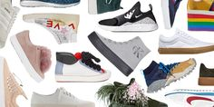 The hottest trend is white shoes, that aren't so white. There's more to life than plain white kicks. Rainbow soles, funky designs, laces and patterns let consumers show off their style. Hayley L.