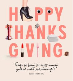 Nasty Gal Newsletter - Happy Thanksgiving