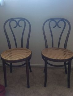 I FOUND THEMMMMMM Set of two beautiful bentwood chairs,Thonet chairs, cafe chair, dining chair, original wood finish, Thonet style chair, vintage chair.