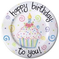 Would be cute to use this plate for the birthday person of the house. Same plate used for everyone's birthday.