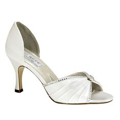 Liz Rene by Benjamin Walk Women's Addison Shoes Silk Satin White