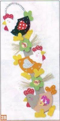 ♥ Compartiendo con mis amigas ♥: ♥ Unas lindas gallinas para decorar tu cocina ♥