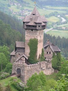 The Falkenstein Castle, a high Middle Ages castle ruins in the Bavarian Alps, near Pfronten, a town in southern Germany.