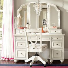 Shop vanity from Pottery Barn Teen. Our teen furniture, decor and accessories collections feature fun and stylish vanity. Create a unique and cool teen or dorm room. Decor, Beauty Room, Home, Bedroom Vanity, Furniture Vanity, Vanity, Furniture, Interior, Bedroom Decor