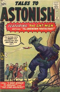 Tales to Astonish VG Marvel comic 1962 Kirby Ant-Man Old Comic Books, Vintage Comic Books, Marvel Comic Books, Comic Book Artists, Comic Book Covers, Vintage Comics, Comic Book Heroes, Comic Artist, Tales To Astonish